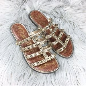 Sam Edelman Glenn Slide Sandals Gold